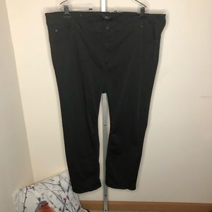 Celebrity Pink Crop Black Stretch Pants